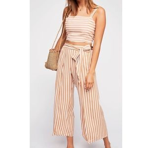 Faithful The Brand stripe 2 piece jumpsuit